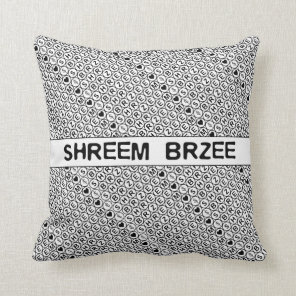 White Chant Shreem Brzee money mantra Throw Pillow