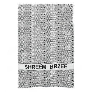 White Chant Shreem Brzee money mantra Towel