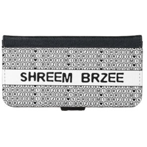 White Chant Shreem Brzee money mantra Wallet Phone Case For iPhone 6/6s