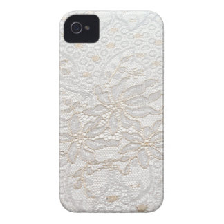 White Chantilly Lace iPhone 4 Cover
