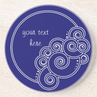 White Charming Swirls Coaster