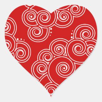 White Charming Swirls Hearts Stickers