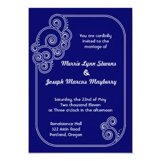 White Charming Swirls Wedding Invitation