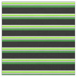 [ Thumbnail: White, Chartreuse, Grey, Forest Green & Black Fabric ]