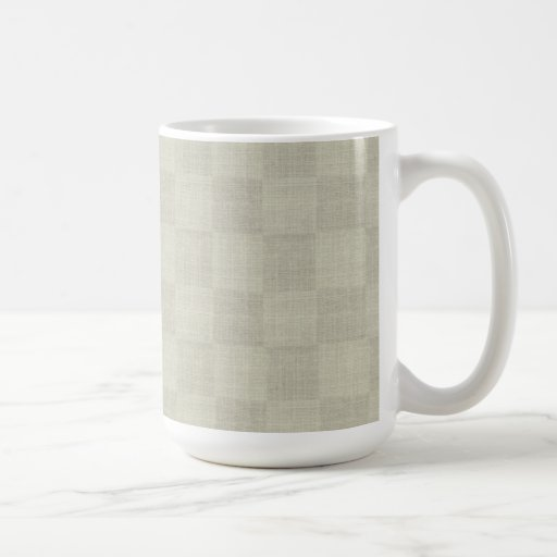 White Checkered Mug