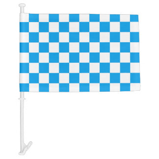 White Checkers with your color. Car Flag