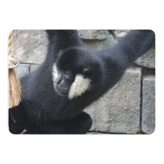 White Cheeked Capuchin Monkey 5x7 Paper Invitation Card