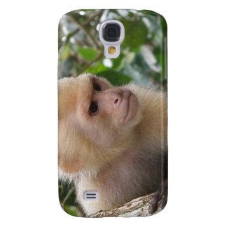 White Cheeked Capuchin Monkey iPhone 3G Case Samsung Galaxy S4 Cases