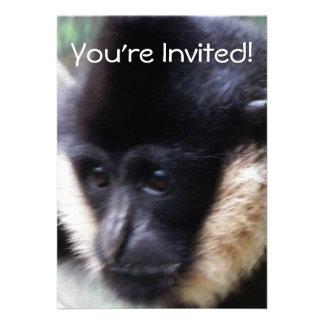 White Cheeked Gibbon Pastel Announcements