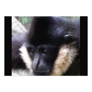 White Cheeked Gibbon Pastel Invite