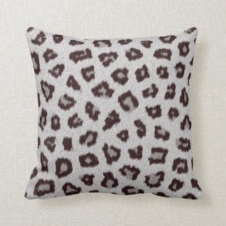 White Cheeta Fur Print Pillow