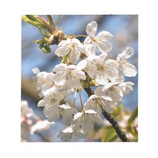 White Cherry bare OM Notepad