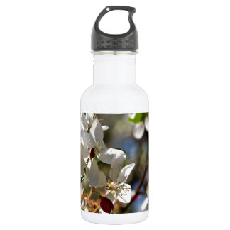 white cherry blossom water bottle