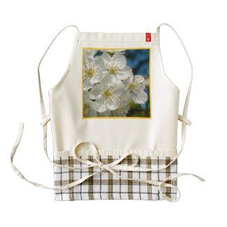 White cherry Blossoms 01.2, Spring Zazzle HEART Apron