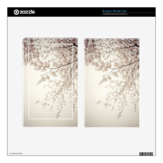White Cherry Blossoms - Central Park Spring Skins For Kindle Fire