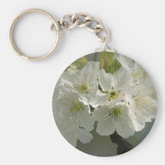 White Cherry Blossoms Keychain