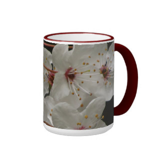 White Cherry Blossoms Coffee Mug