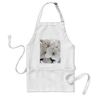 White Cherry Blossoms Photo Adult Apron