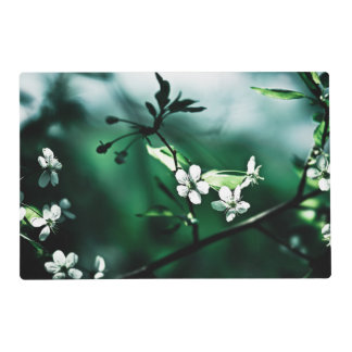White Cherry Blossoms Placemat