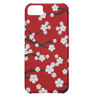 White Cherry Blossoms Sakura Spring Flowers Branch iPhone 5C Cases