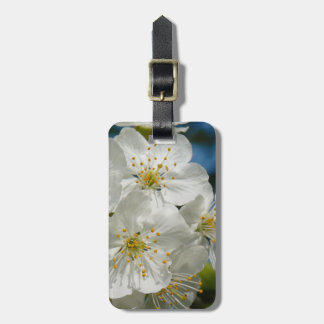 White cherry Blossoms, Spring Bag Tag