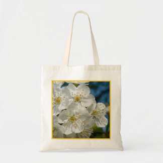 White cherry Blossoms, Spring Tote Bag