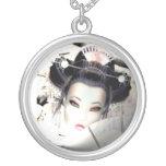 White Cherry Geisha Pendant