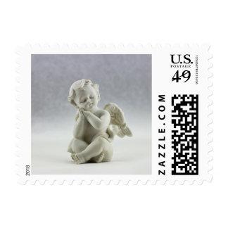 White Cherub Angel Stamp