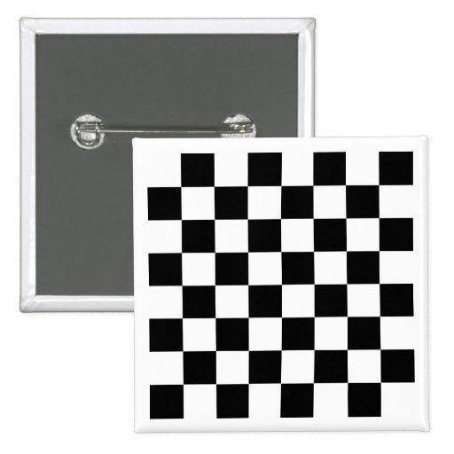 White Chess Board Button