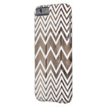 White Chevron Antique Wood Phone Case