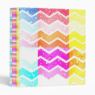 White chevron on creative water droplets pastels binder