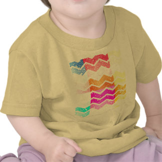 White chevron on creative water droplets pastels tshirts