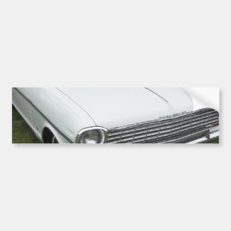white chevy 1963 nova with chrome front view bumper sticker