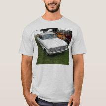 white chevy 1963 nova with chrome front view T-Shirt