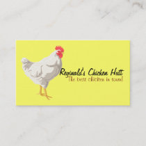 White Chicken Business Card