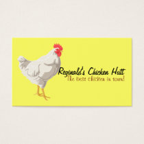 White Chicken Business Card