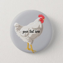 White Chicken Button