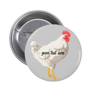 White Chicken Button