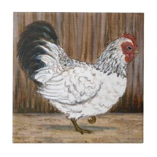 White Chicken Ceramic Tile