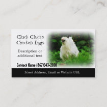 White Chicken - Chicken Farm or Poultry Products Business Card