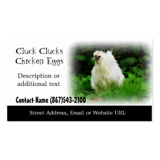 White Chicken - Chicken Farm or Poultry Products Double-Sided Standard Business Cards (Pack Of 100)