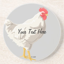 White Chicken Coaster