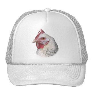 White chicken hat