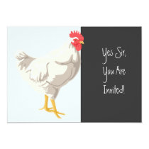 White Chicken Invitation
