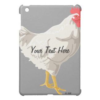 White Chicken iPad Mini Cover