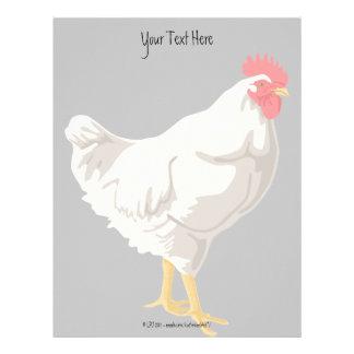 White Chicken Personalized Letterhead