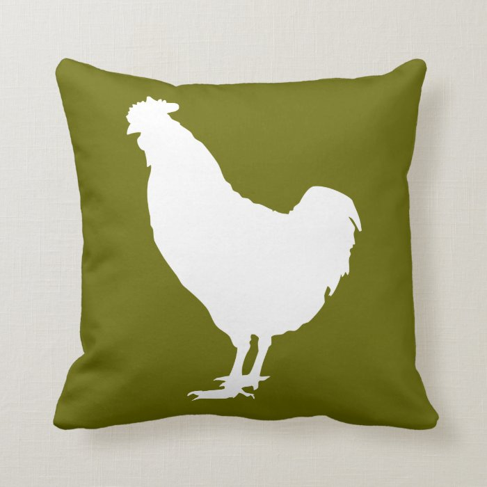 White chicken throw pillow Zazzle