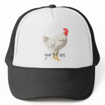 White Chicken Trucker Hat