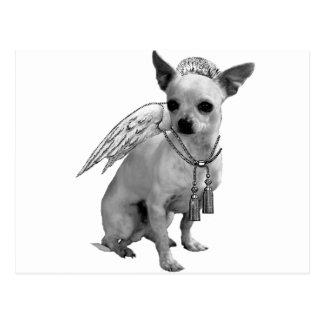 White Chihuahua Angel Wings Postcard