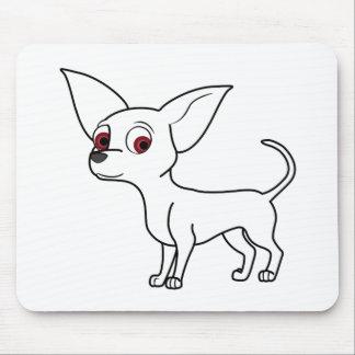 White Chihuahua Mouse Pad